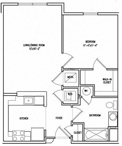 Victory Court 1 Bedroom Floor Plan