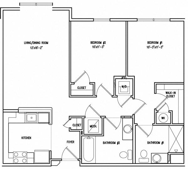 Victory Court Floor Plan 2B
