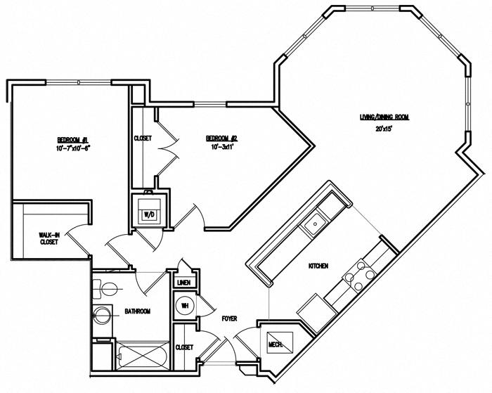 Victory Court Floor Plan 2J
