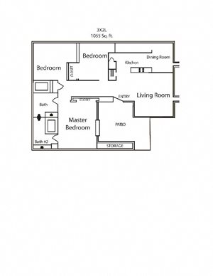 Three Bed Two Bath Large