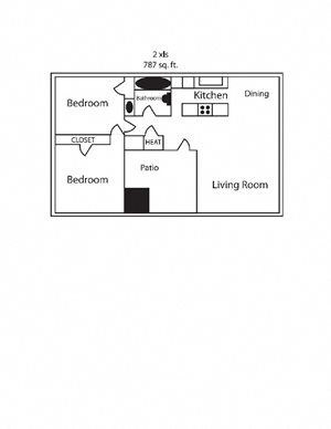 Two Bedroom One Bath Small