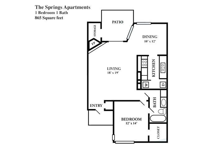 a floor plan 1 - Garden Homes Austin Texas