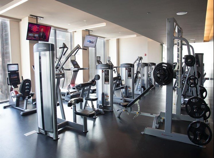 Fitness Center with state of the art equipment at Catalyst, Chicago, IL,60661