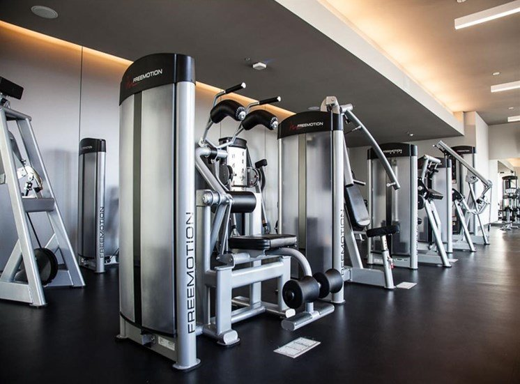 Fitness Center with brand new equipment at Catalyst, Chicago, IL,60661