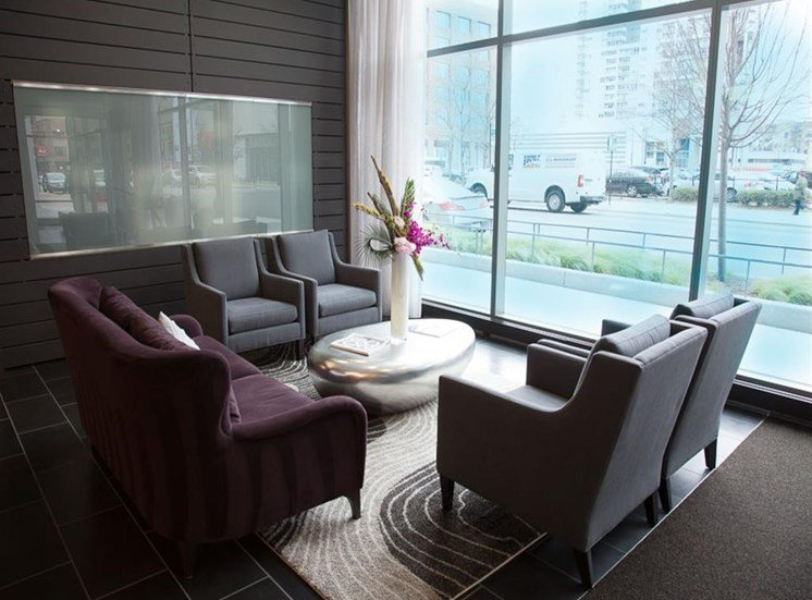 Resident Lounge with Complimentary Coffee Bar at Catalyst, Chicago, IL,60661