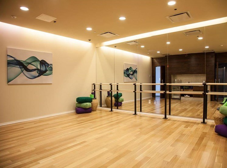 brand new yoga studio featuring Fitness on Request at Catalyst, Chicago, IL,60661