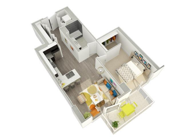 Studio 1 2 3 bedroom apartments in chicago catalyst for City gardens apartments chicago