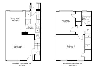 2 Bedroom End