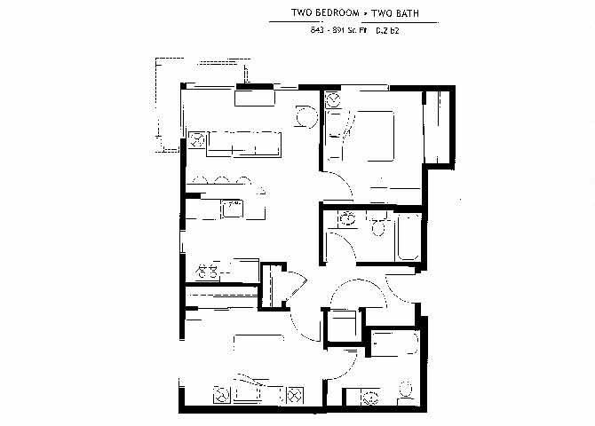 D2b2 Floor Plan 21
