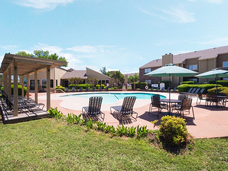 Sparkling swimming pool at Mill Creek Apartments in Abilene, TX