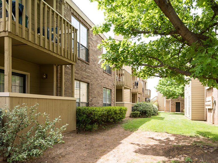 Private patios and balconies at Mill Creek Apartments in Abilene, TX