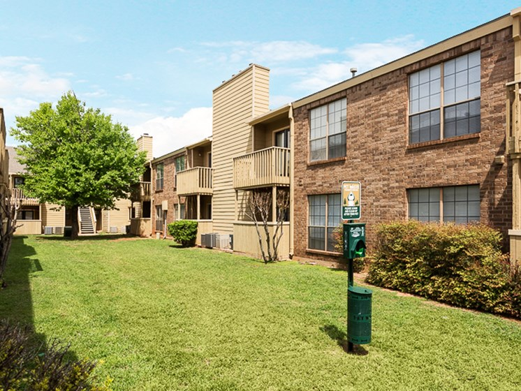 Pet friendly areas at Mill Creek Apartments in Abilene, TX