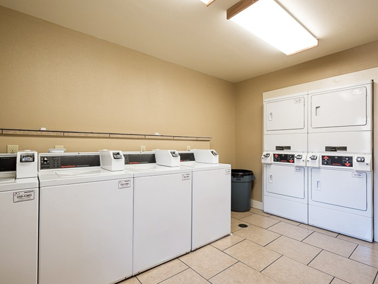 Laundry facility on property Mill Creek Apartments in Abilene, TX