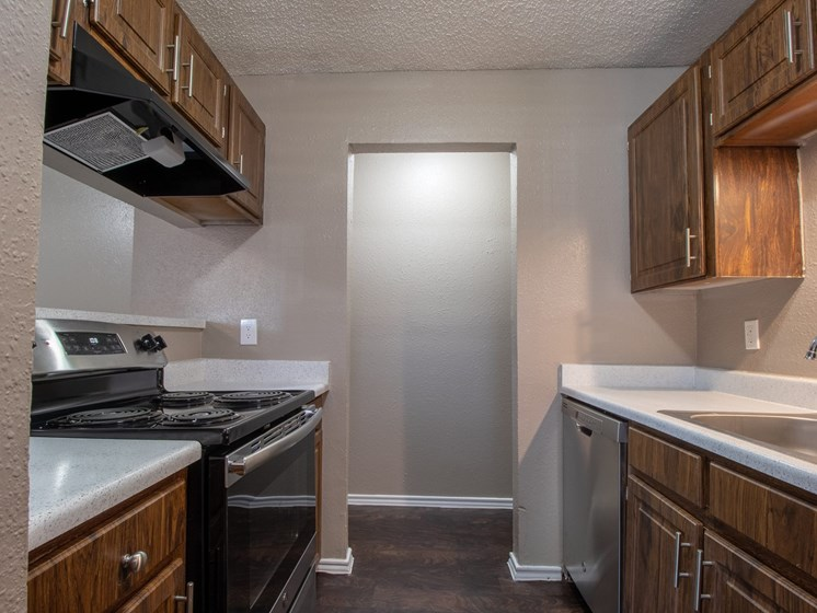 Kitchen at Mill Creek Apartments in Abilene TX