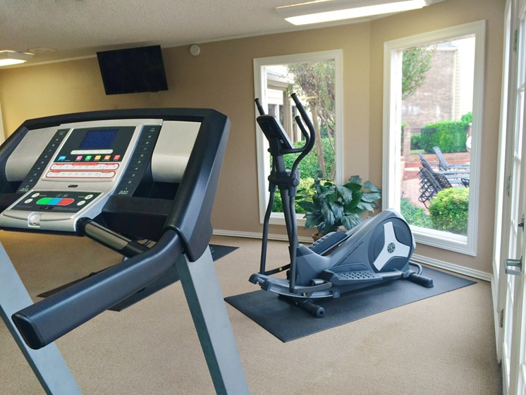 Fitness center at Mill Creek Apartments in Abilene TX