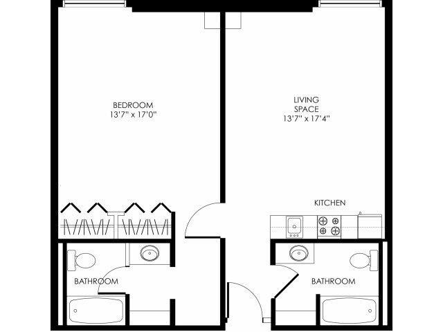 1B-C Floor Plan 9