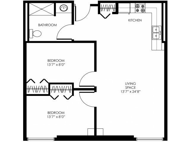 2B-B Floor Plan 6