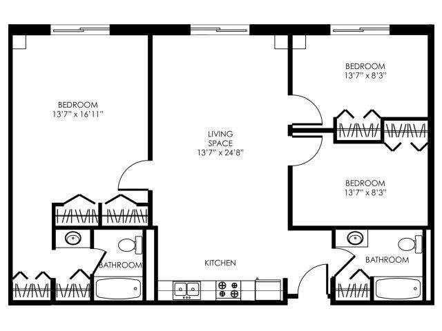 3B-A Floor Plan 1