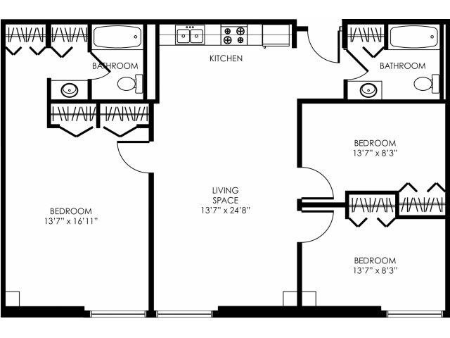 3B-B Floor Plan 2