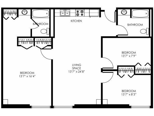 3B-D Floor Plan 4