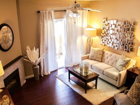 Vineyard Gate Apartments in Roseville, CA - Living Room with Wooden Flooring