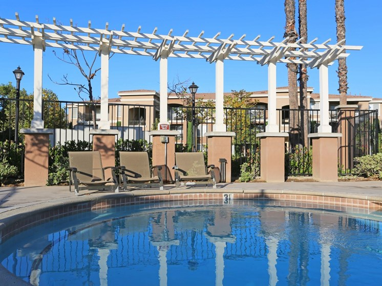 Poolside Lounge Chairs | Waterstone at Moorpark in Moorpark apts for rent