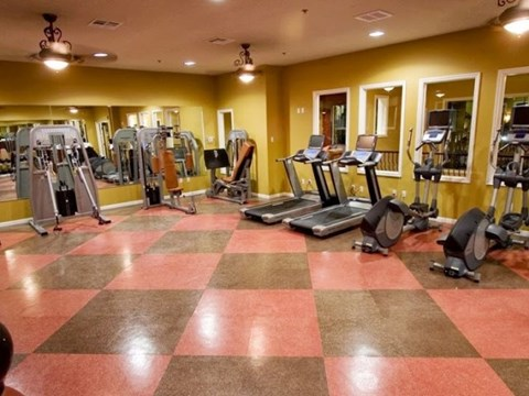 Fitness Room l The Villas at Villaggio Apartments in Modesto CA