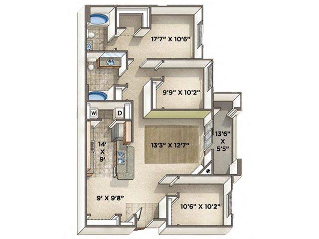 Classico floor plan.