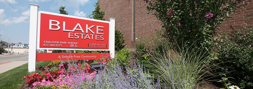 Blake Estates independent senior living apartments in Hyde Park, MA