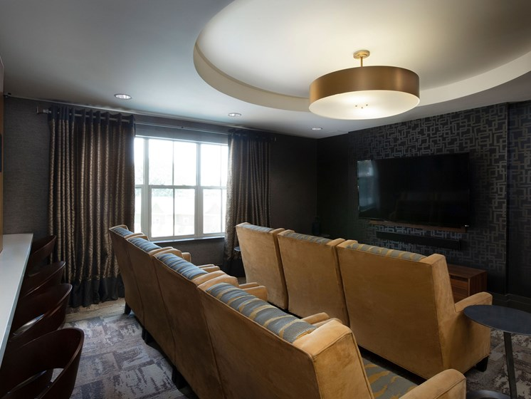 large tv and theater style seating