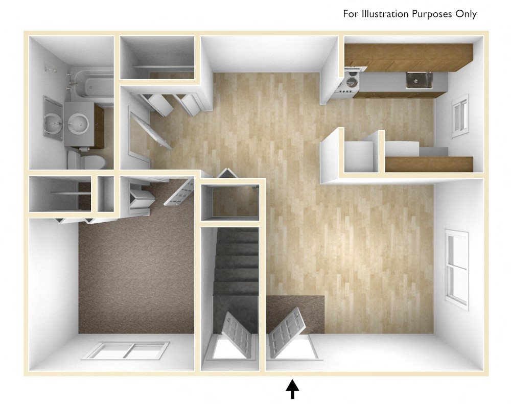 One Bedroom Apartment Floor Plan Blue Ridge Estates