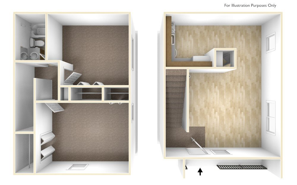 Two Bedroom Apartment Floor Plan Blue Ridge Estates