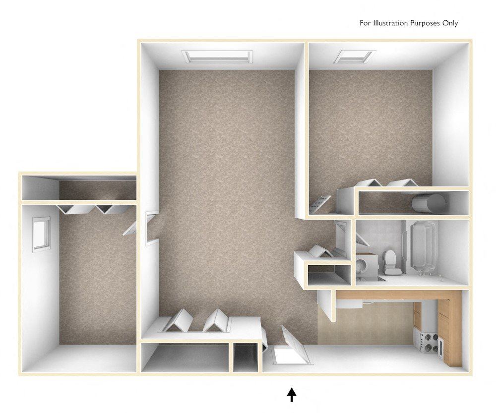 Two Bedroom Apartment Floor Plan Branchwood Towers Apartments