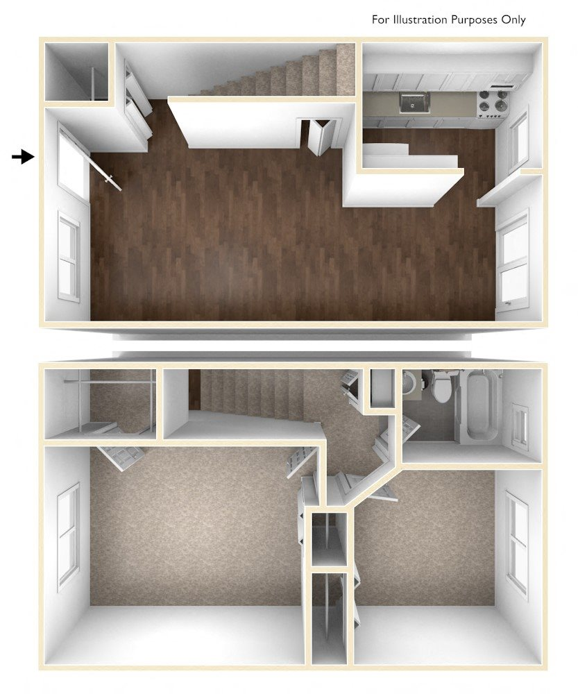 Two Bedroom Apartment Floor Plan Colonial Estates Apartments