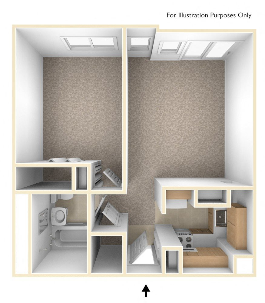 One Bedroom Floor Plan Flanders West Apartments