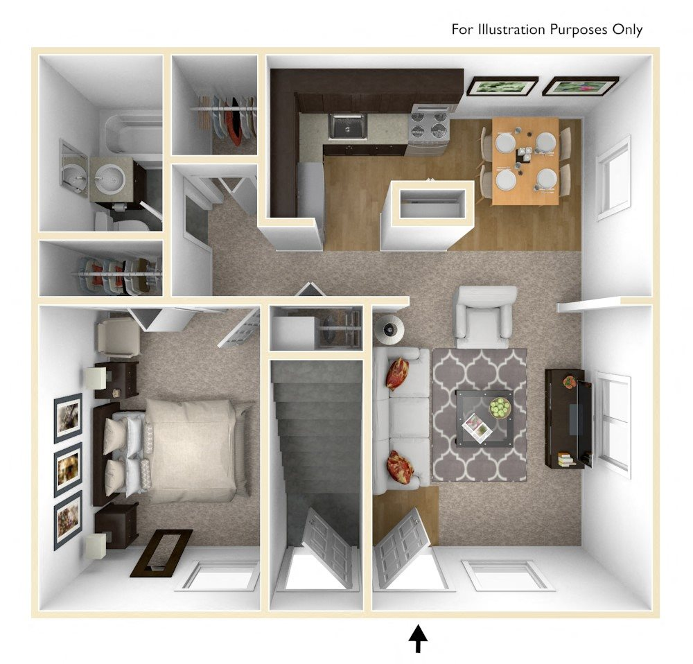 One Bedroom Floor Plan Palmer Green Apartments