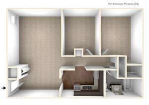 Two Bedroom Apartment Floor Plan Berkshire Peak Apartments