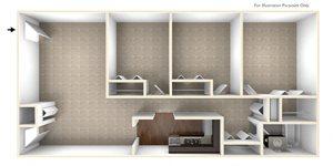Three Bedroom Apartment Floor Plan Berkshire Peak Apartments