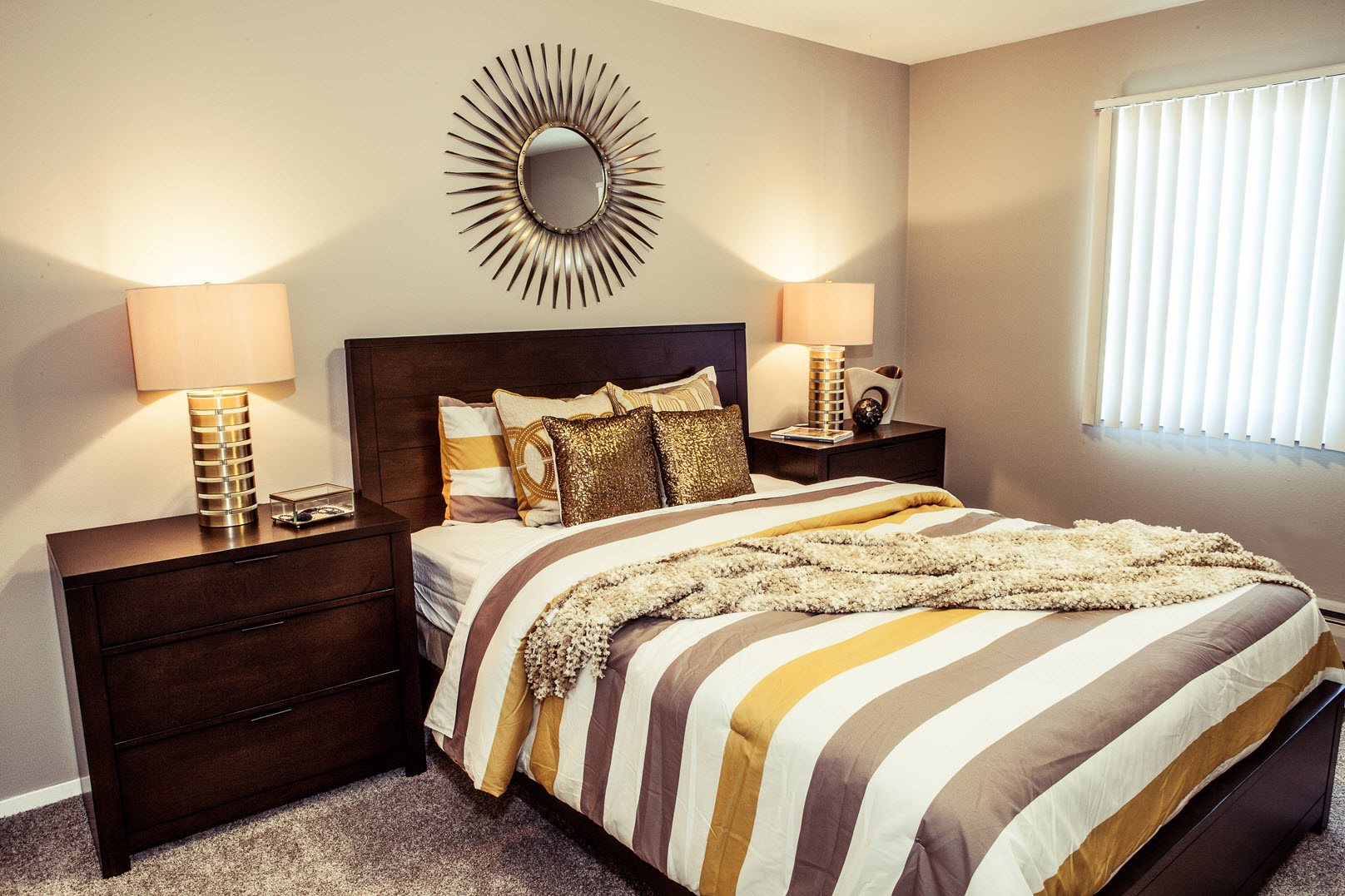 Master bedroom at Concierge Apartments in Richfield MN