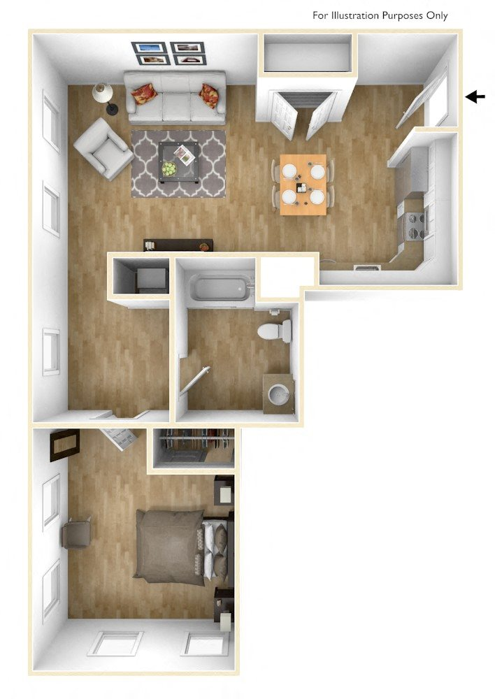 One Bedroom Apartment Floor Plan Sacred Heart Apartments