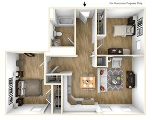Two Bedroom Apartment Floor Plan Sacred Heart Apartments