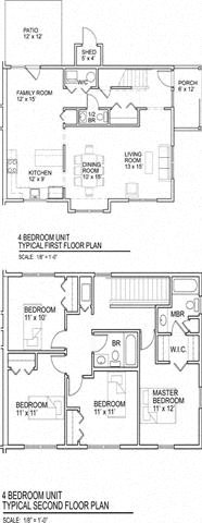 4 Bedroom Floor Plan 3