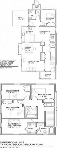 5 Bedrooms Floor Plan 4
