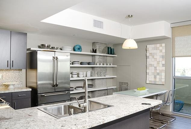 Home Community -  Modular Kitchen at 1600 Vine Apartment Homes, California, 90028