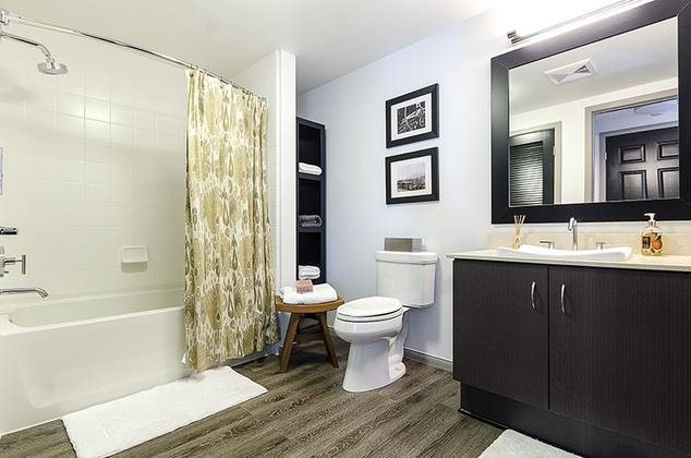 Home Community - Specious Bathroom at 1600 Vine Apartment Homes, Hollywood, California
