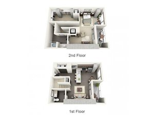 1 Bed - 1 Bath Floor Plan at 1600 Vine Apartment Homes, Hollywood, California