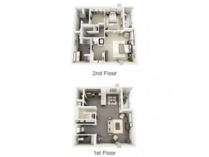 2 Bed - 2.5 Bath Floor Plan at 1600 Vine Apartment Homes, 1600 VINE Street, CA