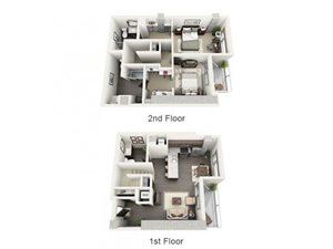 2 Bed - 2.5 Bath Floor Plan at 1600 Vine Apartment Homes, California, 90028
