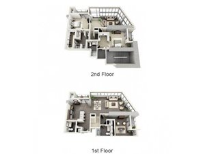 3 Bed - 3.5 Bath Floor Plan at 1600 Vine Apartment Homes, Hollywood, CA