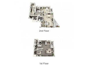 3 Bed - 3.5 Bath Floor Plan at 1600 Vine Apartment Homes, Los Angeles, 90028